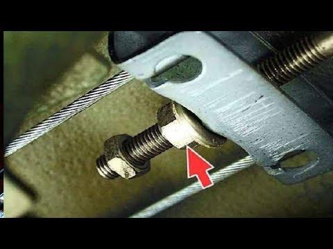 Как подтянуть ручник лансер 9