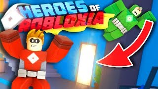 UNLOCKING THE SECRET HIDEOUT IN HEROES OF ROBLOXIA! | Heroes Of Robloxia ROBLOX Gameplay