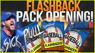 MLB The Show 16 Diamond Dynasty Pack Opening! Flash Back Packs! SICK PULL!!