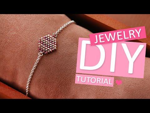 DIY Tutorial - Brick stitch mit Miyuki Perlen - Machen Sie Ihren eigenen Schmuck