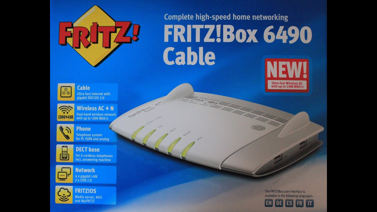 Avm Fritz Box 6490 Cable Youtube