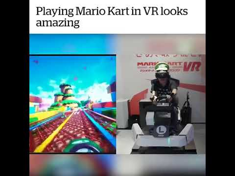 Playing Mario Kart in Virtual reality