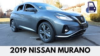 2019 Nissan Murano Platinum AWD In Depth Detailed Walk Around and Review