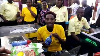 Erick Omondi Entertaining at Khetia's Supermarket