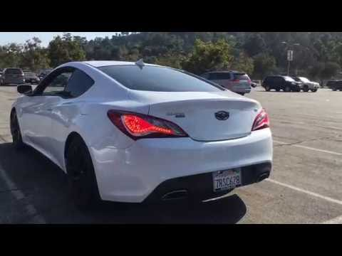 Hyundai Genesis Coupe 3.8 Straight Pipes Crazy Backfire