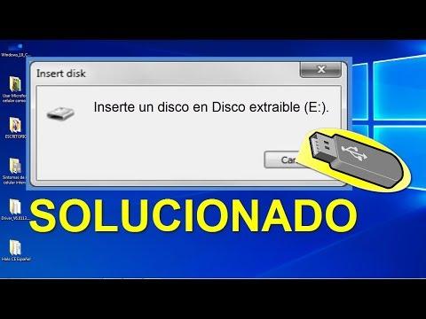 Inserte Un Disco En DISCO Extraible│Mi Pendrive NO Se Deja Formatear│No Puedo Formatear Mi USB