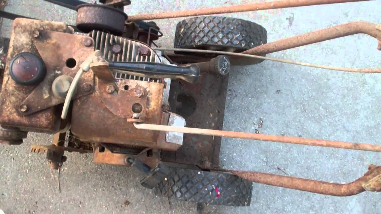 Vintage Sears Lawn Edger With Tecumseh Gas Engine