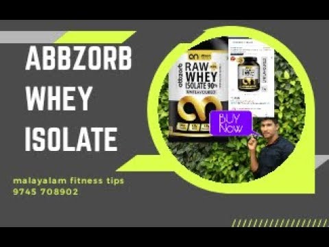 Whey protein ISOLATE 90% protien burn fat build muscle  ||Abbzorb nutrition||