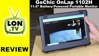 """GeChic OnLap 1102H Review:  Battery-Powered 11.6"""" 1080p Portable Monitor With a Premium Price"""
