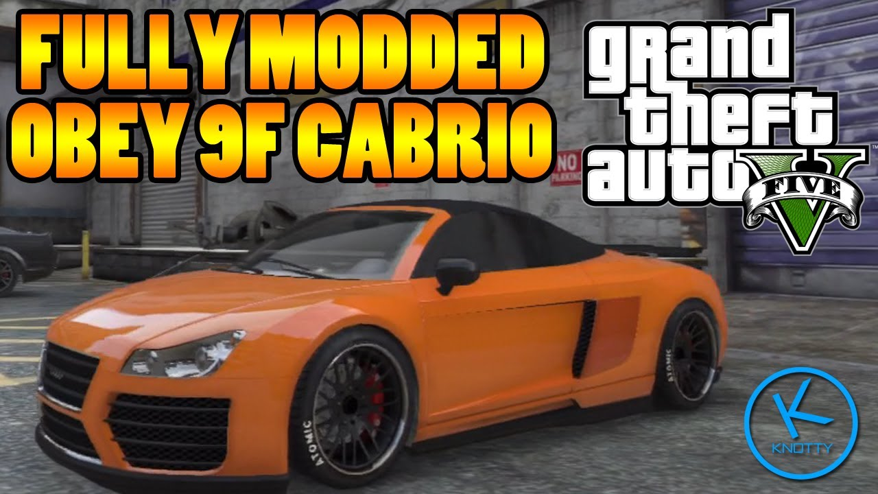 Gta 5 Fully Modified: Obey 9F Cabrio - YouTube