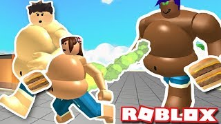 THE FATTEST COUPLE ON ROBLOX   Eating Simulator   All you can eat   Funny moments