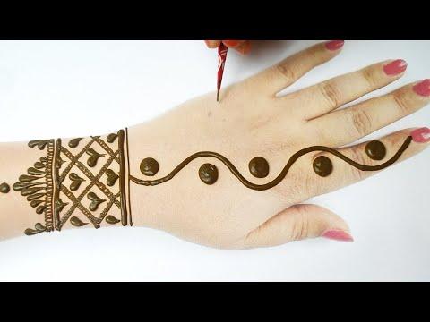 Eid Special Mehndi from Dots & Flower -  आसान गोल टिक्की मेहँदी लगाना सीखे- Karwachauth mehndi