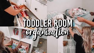 TODDLER ROOM ORGANIZATION TIPS AND TRICKS | CLEAN WITH ME 2019