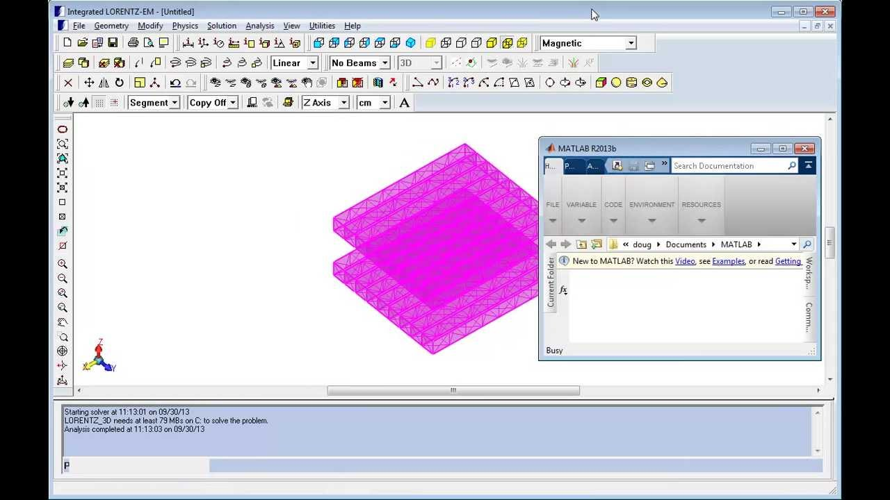 MATLAB and the INTEGRATED API