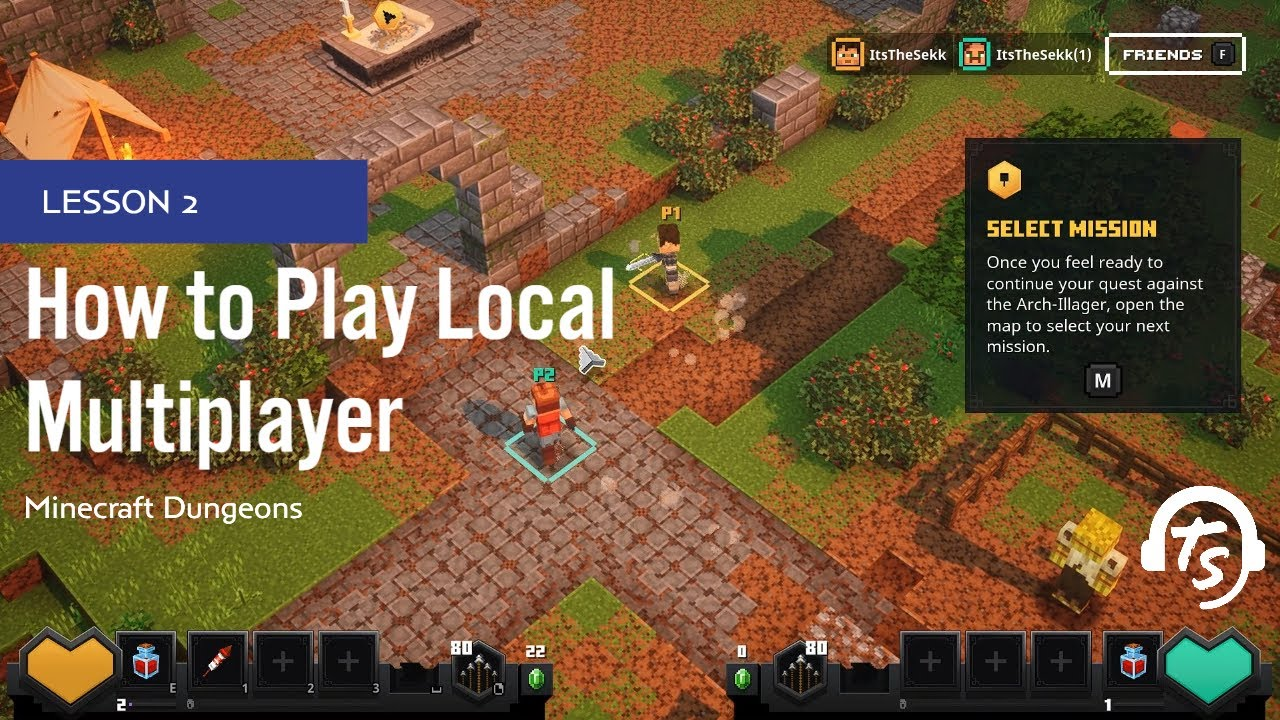 How to Play Local Multiplayer In Minecraft Dungeons  TheGamer