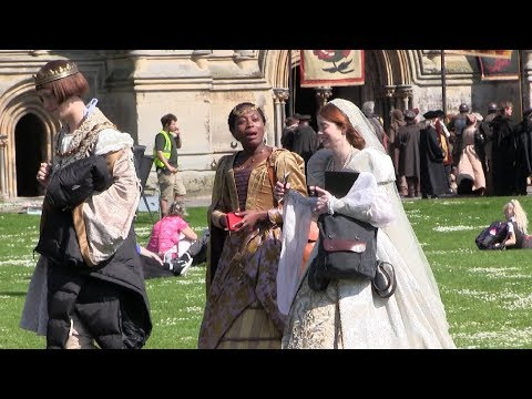 the spanish princess charlotte hope cast and crew filming on location in wells