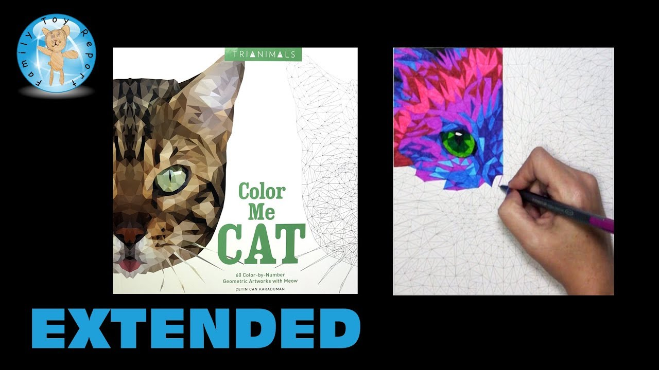 Trianimals Color Me Cat Coloring Book Birman Extended #colormecat    Family  Toy Report