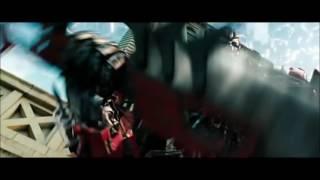 Оптимус Прайм против Сентинела Прайма и против Мегатрона, в фильме Трансформеры Тёмная Сторона Луны.