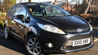 Used Ford Fiesta 1.4 Zetec 3dr Panther black 2010