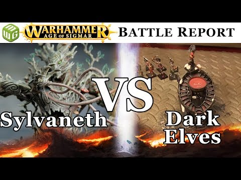 Sylvaneth vs Dark Elves Age of Sigmar Battle Report - War of the Realms Ep 159