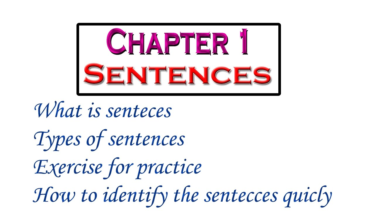 sentence exercises chapter 10