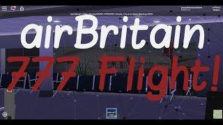 airBritain 777 flight! I Roblox