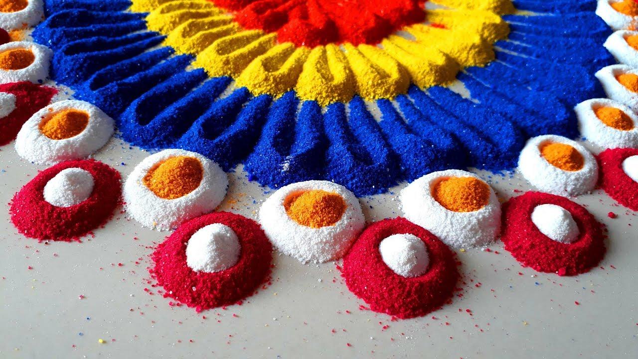 Easy and Beautiful Designs for Diwali/दिवाली की रंगोली/ Colourful Rangoli Designs –