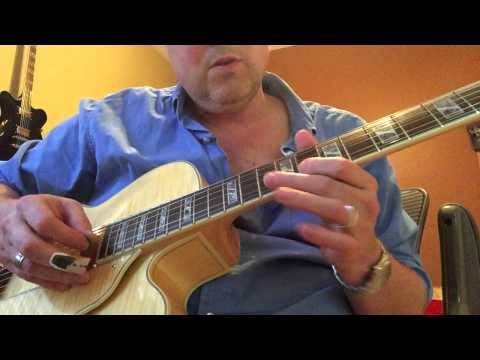 Jamming Guitar to Jazz backing track, Ibanez AF 105 F