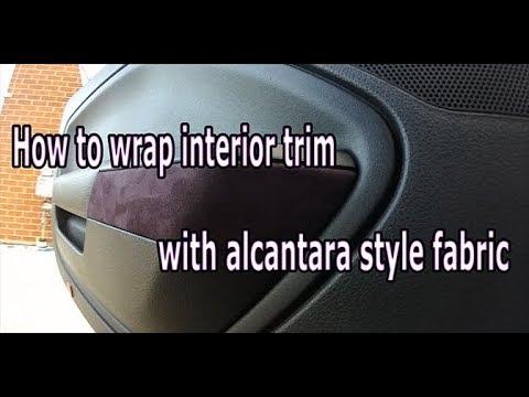 Smartass Garage - Instructional - How to microsuede (alcantara) wrap interior trim pieces