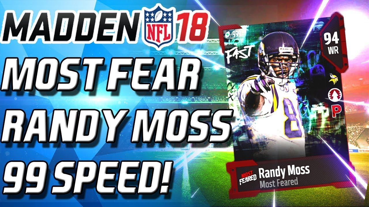 newest 04f3e 1bbed 97 SPEED RANDY MOSS! SPOOKY LEGEND PACKS ON FIRE! - Madden 18 Ultimate Team