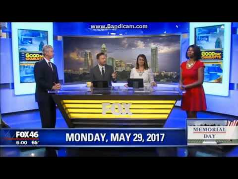 """WJZY Fox 46 """"Good Day Charlotte"""" at 6am breaking news cold open May 29, 2017"""