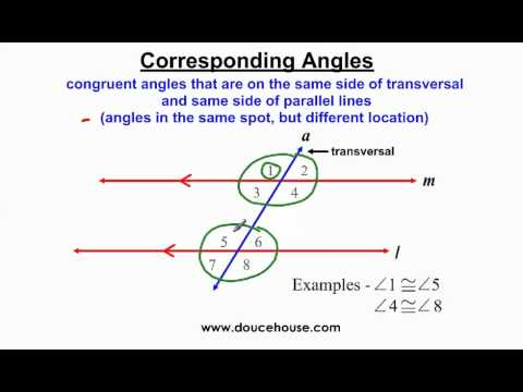 Angle Relationships with Parallel Lines - Part 1 - YouTube