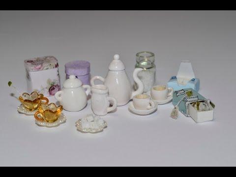 Чайный набор (кукольная миниатюра).