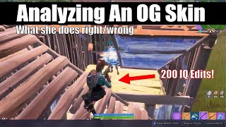 Spectating An OG Skin TRYHARD! What She Did Right and Wrong! (Fortnite Vod Review)