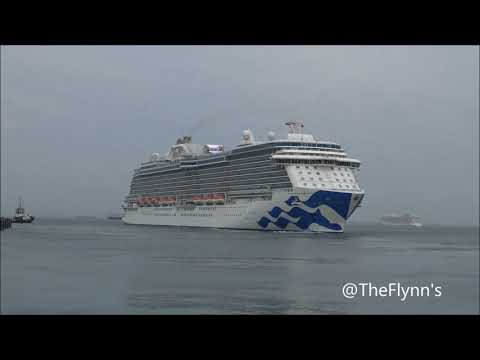 Majestic Princess Sail Away From Singapore 11 March 2018