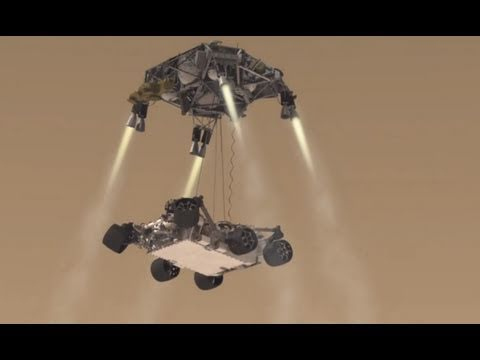 mars curiosity rover landing animation - photo #13