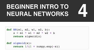 Beginner Intro to Neural Networks 4: First Neural Network in Python