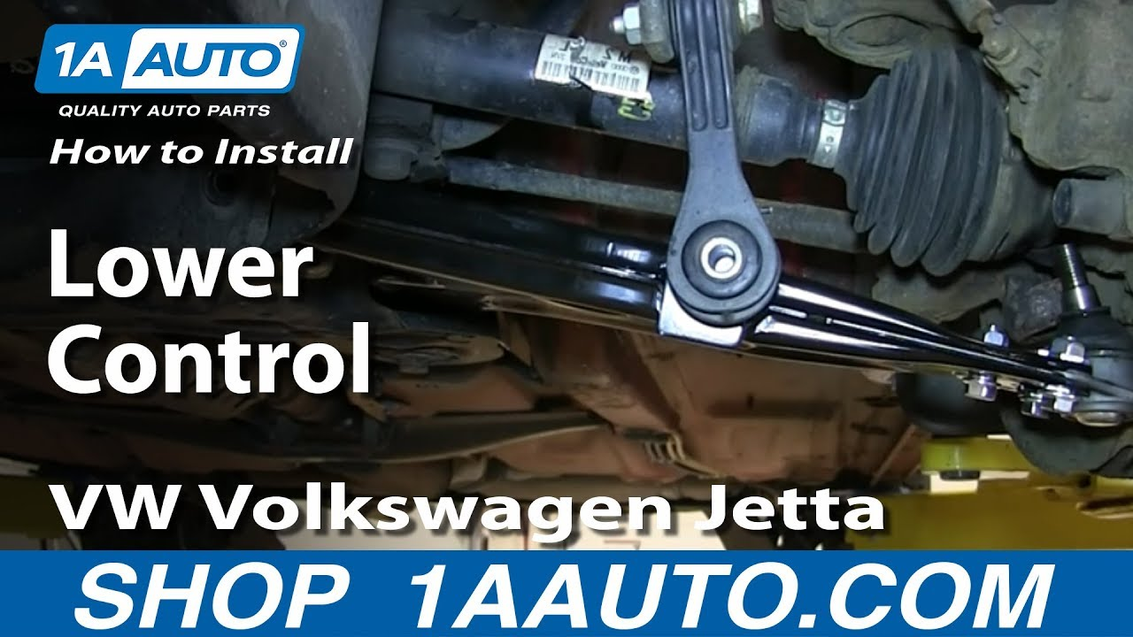 how to replace control arm 99 09 volkswagen jetta 1a auto parts [ 1280 x 720 Pixel ]