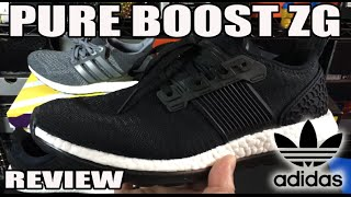 adidas pure boost zg comparison review on feet
