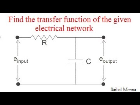 How to find TRANSFER FUNCTION of electrical network?