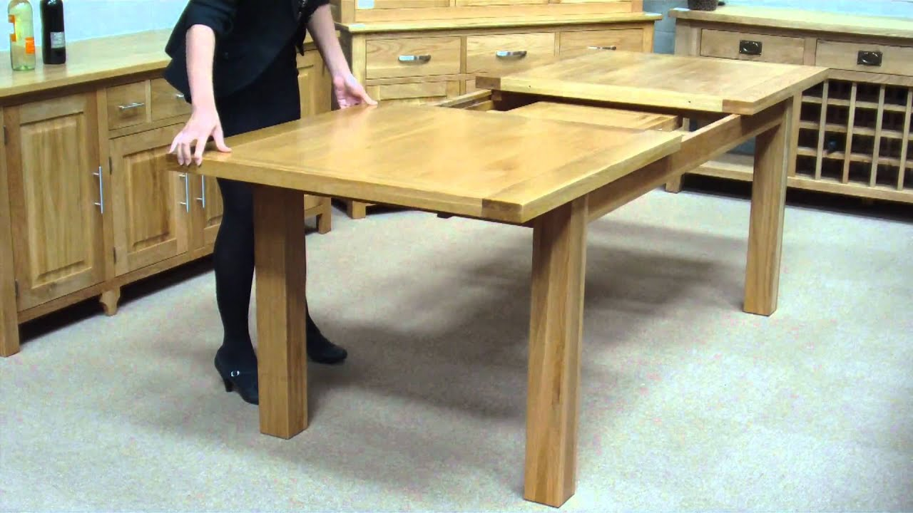 How to extend a middle extension table youtube Table extenders dining room