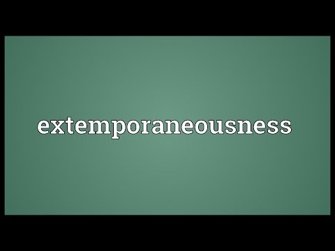 Header of extemporaneousness