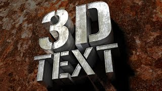 Photoshop: How to Create Realistic, Texture-wrapped, 3D Text in CS6 and later.