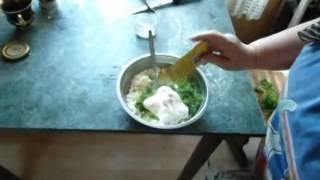 Салат с творогом и зеленью