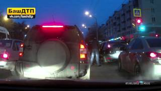 Драка на дороге в Уфе