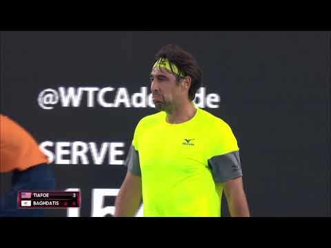 Frances Tiafoe v Marcos Baghdatis Match Highlights | World Tennis Challenge 2018