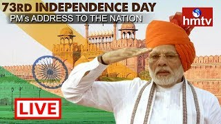 PM Narendra Modi Flag Hoisting Live | 73rd Independence Day Celebrations at Red Fort Live | hmtv