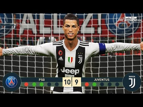 PES 2019 | goalkeeper NEYMAR vs goalkeeper C.RONALDO | Penalty Shootout | PSG vs Juventus