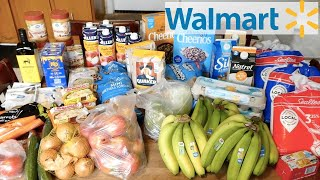 WALMART GROCERY HAUL WITH LARGE FAMILY MEAL PLAN!