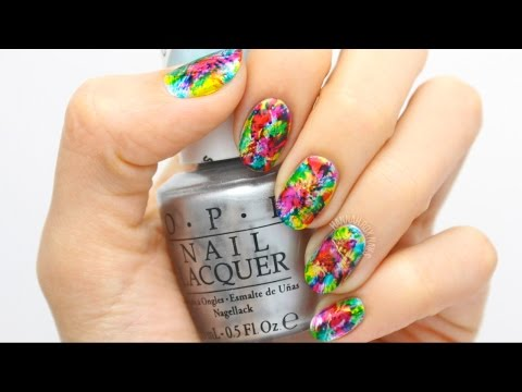 Abstract Tie Dye Nail Art with OPI Color Paints!